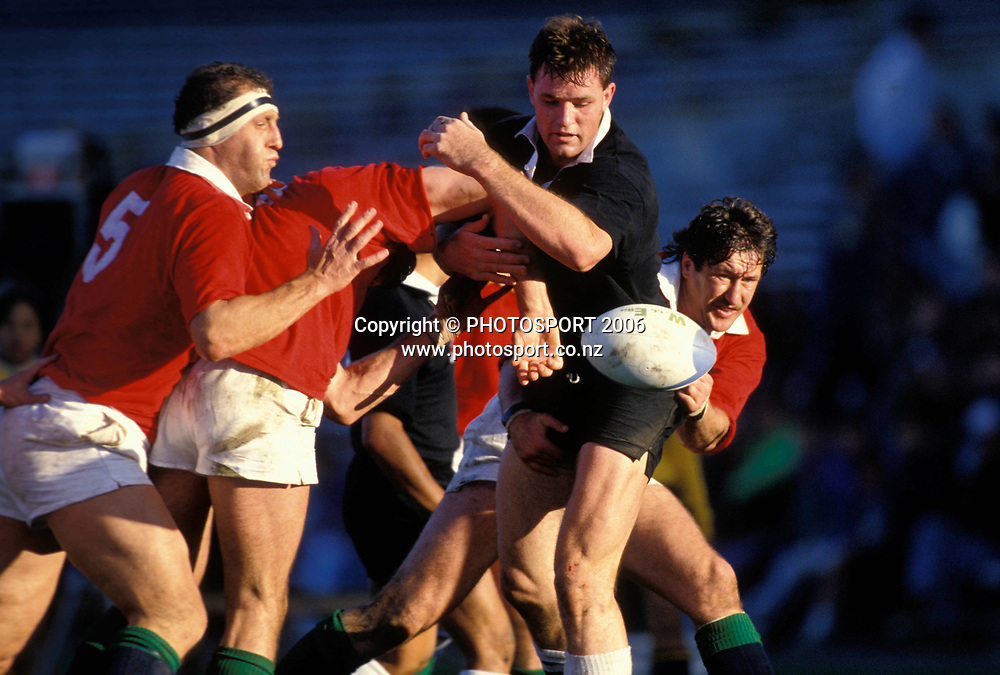 NZ Maori lock Mark Cooksley in action during the 1993 British and Irish Lions tour to New Zealand. Photo: PHOTOSPORT<br /> New Zealand Maori v British &amp; Irish Lions at Wellington, 29 May 1993.