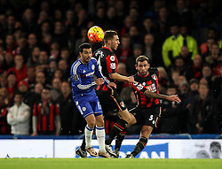 Steve Cook of Bournemouth clears the ball - Mandatory byline: Robbie Stephenson/JMP - 05/12/2015 - Football - Stamford Bridge - London, England - Chelsea v AFC Bournemouth - Barclays Premier League