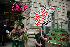 22 Apr.2015 - Axe Drax protest at Drax plc AGM and DECC.