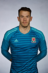 NANNING, CHINA - Saturday, March 24, 2018: Wales' goalkeeper Chris Maxwell during a squad photo shoot at the Wanda Realm Hotel on day five of the 2018 Gree China Cup International Football Championship. (Pic by David Rawcliffe/Propaganda)