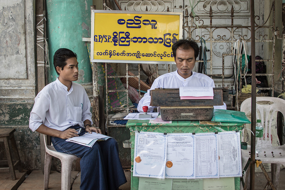 Waiting for the Typist | Yangon, Myanmar