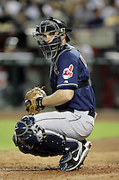 27 June 2011: Indians catcher #6 Lou Marson during a Major League Baseball game MLB Cleveland Indians defeated the Arizona Diamondbacks 5-4 inside Chase Field in Phoenix, AZ.  **Editorial Use Only**