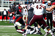 LITTLE ROCK, ARKANSAS - NOVEMBER 23:  Alex Collins #3 of the Arkansas Razorbacks runs the ball against the Mississippi State Bulldogs at War Memorial Stadium on November 23, 2013 in Little Rock, Arkansas.  (Photo by Wesley Hitt/Getty Images) *** Local Caption *** Alex Collins