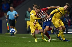November 6, 2018 - Madrid, Spain - Filipe Luis of Atletico Madrid and  Lukasz Piszczek of Borussia Dortmund battle for the ball during the Group A match of the UEFA Champions League between Atletico de Madrid and Borussia Dortmund at Wanda Metropolitano Stadium, Madrid on November 06 of 2018. (Credit Image: © Jose Breton/NurPhoto via ZUMA Press)