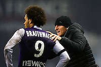 Martin Braithwaite / Thierry Uvenard - 28.02.2015 - Toulouse / Saint Etienne - 27eme journee de Ligue 1 -<br />