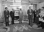 28/10/1985<br /> 10/28/1985<br /> 28 October 1985<br /> Launch of Gaisce The Presidents Award at Aras an Uachtarain. President Dr. Patrick Hillery launched the new national youth award scheme to be the nations highest award to Irish young people aged 15-25. Picture shows Dr. A.F.J. (Tony) O'Reilly, Chairman of the Management Committee speaking at the launch.