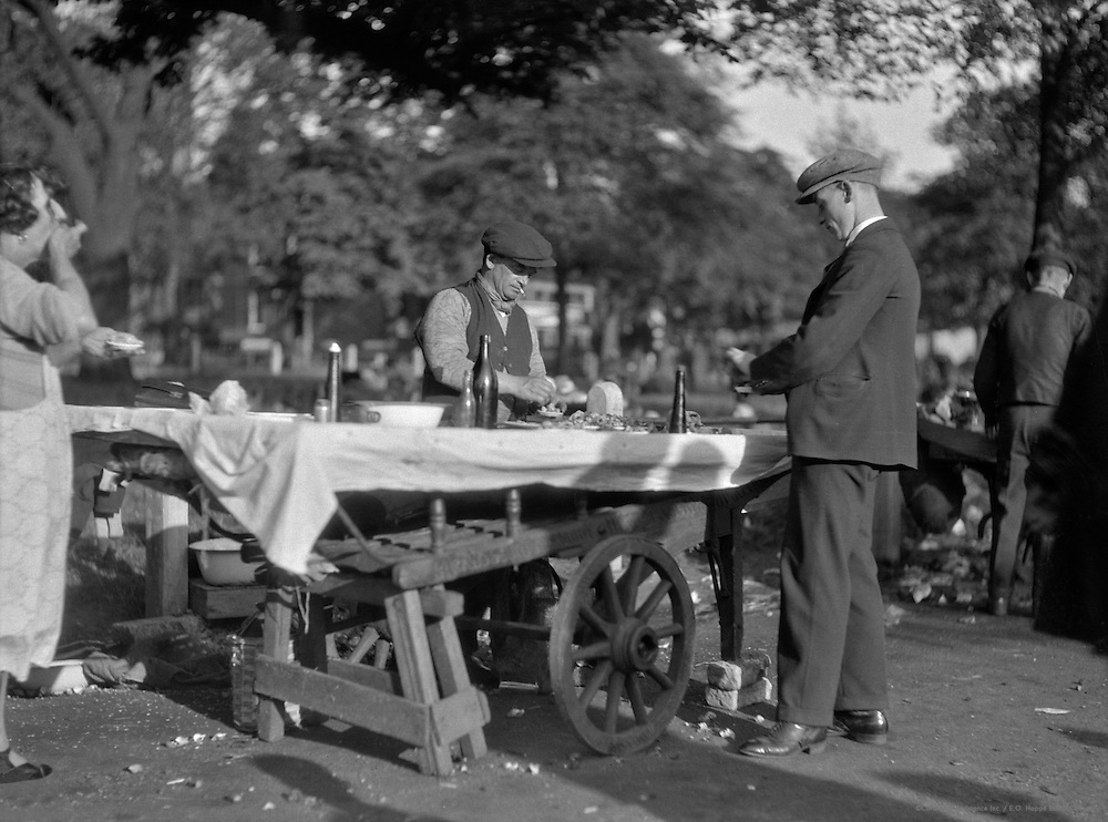Cockle and Whelk Stall, London, 1929