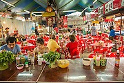 16 FEBRUARY 2013 - BANGKOK, THAILAND:    A food court area in Chatuchak Weekend Market in Bangkok. It is reportedly the largest market in Thailand and the world's largest weekend market. Frequently called J.J., it covers more than 35 acres and contains upwards of 5,000 stalls.        PHOTO BY JACK KURTZ