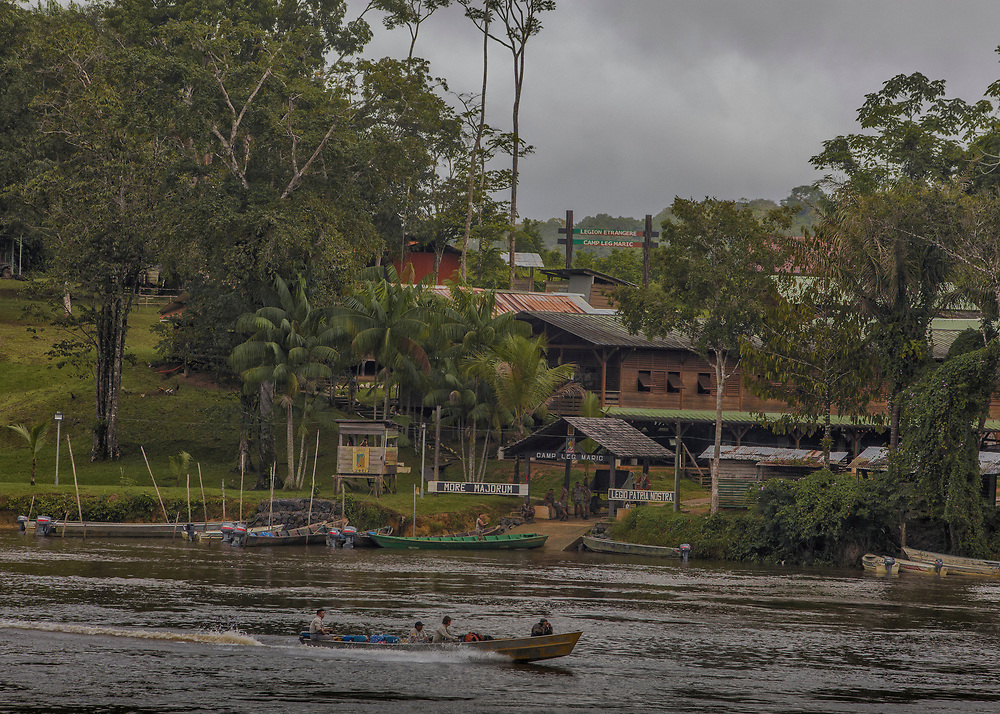 Camopi, Guyane, 2015.<br /> <br /> Camp du 3eme REI de la L&eacute;gion &eacute;trang&egrave;re.