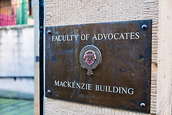 Faculty of Advocates Mackenzie Building in Edinburgh, Scotland, United Kingdom