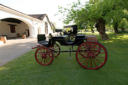 Chile Wine Country: Horse carriage on display at Undurraga Winery, near Santiago, Vina Undurraga.  Historical legacy of family..Photo #: ch412-33878..Photo copyright Lee Foster, 510-549-2202, www.fostertravel.com, lee@fostertravel.com.
