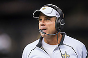NEW ORLEANS, LA - SEPTEMBER 20:  Head Coach Sean Payton of the New Orleans Saints on the field during a game against the Tampa Bay Buccaneers at Mercedes-Benz Superdome on September 20, 2015 in New Orleans Louisiana.  The Buccaneers defeated the Saints 26-19.  (Photo by Wesley Hitt/Getty Images) *** Local Caption *** Sean Payton