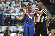 "Ole Miss vs. Kentucky's Julius Mays (34) reacts to being called for a foul at the C.M. ""Tad"" Smith Coliseum on Tuesday, January 29, 2013.  .."