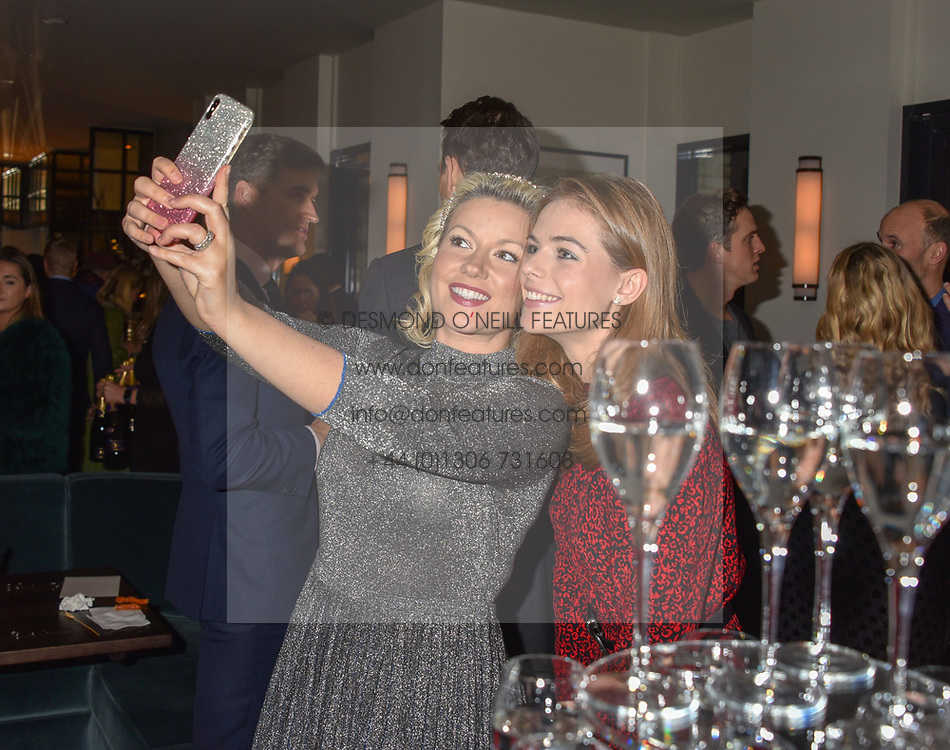 21 November 2019 - Natalie Rushdie and Rosie Tapner at the launch of Sam's Riverside Restaurant, 1 Crisp Walk, Hammersmith hosted by owner Sam Harrison, Edward Taylor and Jack Brooksbank.<br /> <br /> Photo by Dominic O'Neill/Desmond O'Neill Features Ltd.  +44(0)1306 731608  www.donfeatures.com