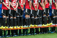 German Soccer Bundesliga 2015/16 - Photocall of FC Ingolstadt 04 on 09 July 2015 in Ingolstadt, Germany: A rear view of the posing players of FC Ingolstadt 04.