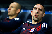 Bayern Munich's French midfielder Franck Ribery waits for the start of the UEFA Champions League, Group B football match between Paris Saint-Germain and Bayern Munich on September 27, 2017 at the Parc des Princes stadium in Paris, France - Photo Benjamin Cremel / ProSportsImages / DPPI