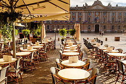 Cafe in the Place du Capitol, Toulouse, France<br /> <br /> (c) Andrew Wilson | Edinburgh Elite media