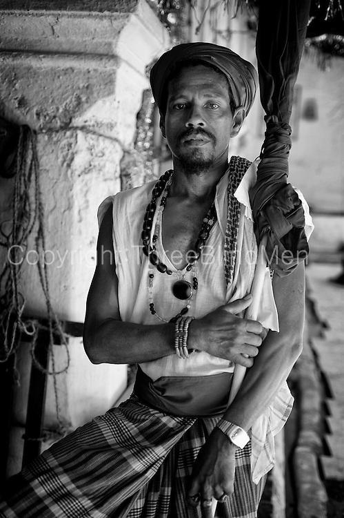 Man at Dargha shrine in Nagore.