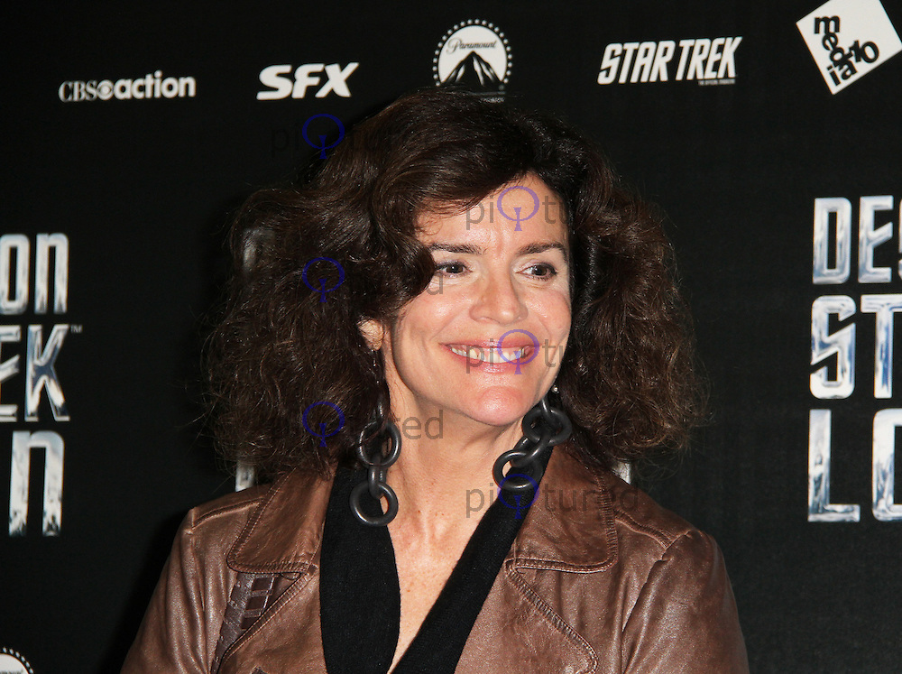 LONDON - OCTOBER 19: Robin Curtis attended 'Destination Star Trek London' at the ExCel Centre London, UK, October 19, 2012. (Photo by Richard Goldschmidt)