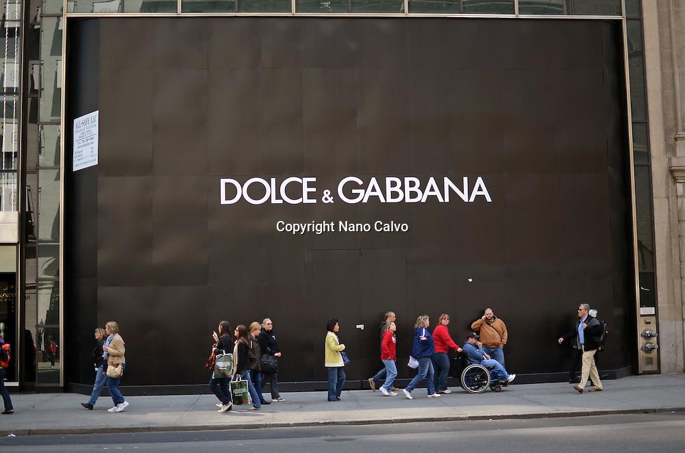 Dolce & Gabbana store under construction