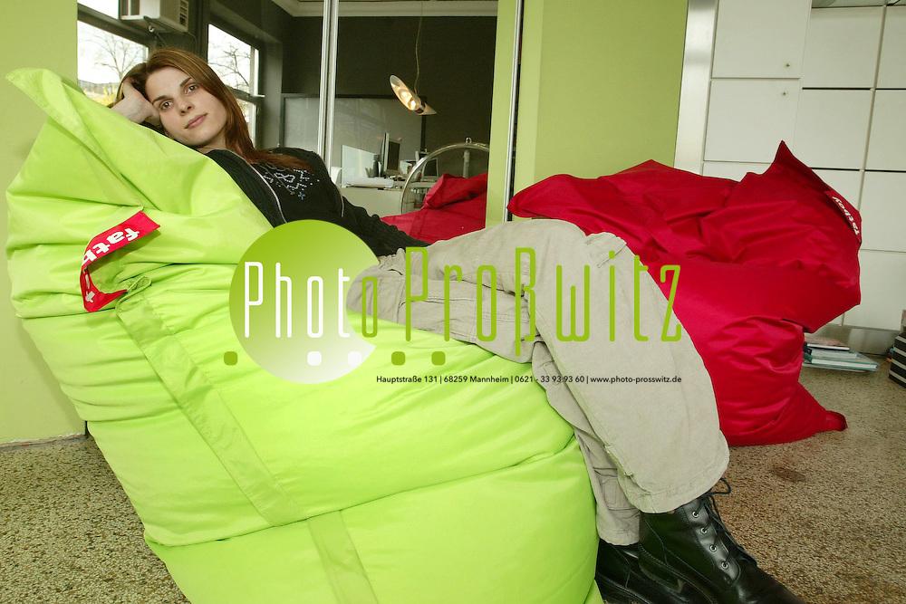 Mannheim. New Style Living. Sitzsack. bei Fa. Raumfreiheit<br /> <br /> Bild: Markus Pro&szlig;witz