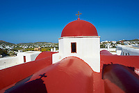 Grèce, Les Cyclades, Ile de Mykonos, Ano Mera, monastere de la Panagia Tourliani // Greece, Cyclades, Mykonos island, Ano Mera, Panagia Tourliani monastery