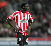 Photo: Lee Earle.<br /> Southampton v Derby County. Coca Cola Championship. 04/02/2006. Saint's Kenwyne Jones looks dejected.