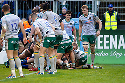 Will Stuart of Bath Rugby scores a try in the second half - Mandatory byline: Patrick Khachfe/JMP - 07966 386802 - 09/11/2019 - RUGBY UNION - The Recreation Ground - Bath, England - Bath Rugby v Northampton Saints - Gallagher Premiership
