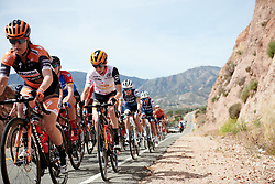 Katie Hall (USA) in the group of main GC contenders at Amgen Tour of California Women's Race empowered with SRAM 2019 - Stage 3, a 126 km road race from Santa Clarita to Pasedena, United States on May 18, 2019. Photo by Sean Robinson/velofocus.com