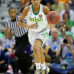 April 7, 2013; New Orleans, LA, USA; Notre Dame Fighting Irish guard Skylar Diggins (4) dribbles against the Connecticut Huskies during the first half in the semifinals during the 2013 NCAA womens Final Four at the New Orleans Arena. Mandatory Credit: Derick E. Hingle-USA TODAY Sports