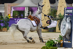 GULLIKSEN Geir (NOR), Gin Chin van het Lindenhof<br /> Doha - CHI Al SHAQAB 2020<br /> Commercial Bank CHI Al Shaqab Grand Prix presented by LONGINES<br /> Int. jumping competition over two rounds and jump-off (1.60 m)<br /> 29. Februar 2020<br /> © www.sportfotos-lafrentz.de/Stefan Lafrentz