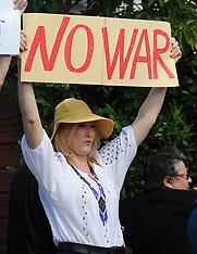 Wellington-Ukranians protest outside Russian Embassy