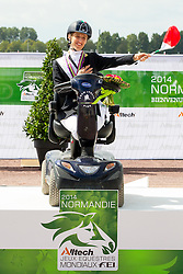 Sara Morganti and Royal Delight silver in the Freestyle Grade Ia Para Dressage - Alltech FEI World Equestrian Games™ 2014 - Normandy, France.<br /> © Hippo Foto Team - Leanjo de Koster<br /> 25/06/14
