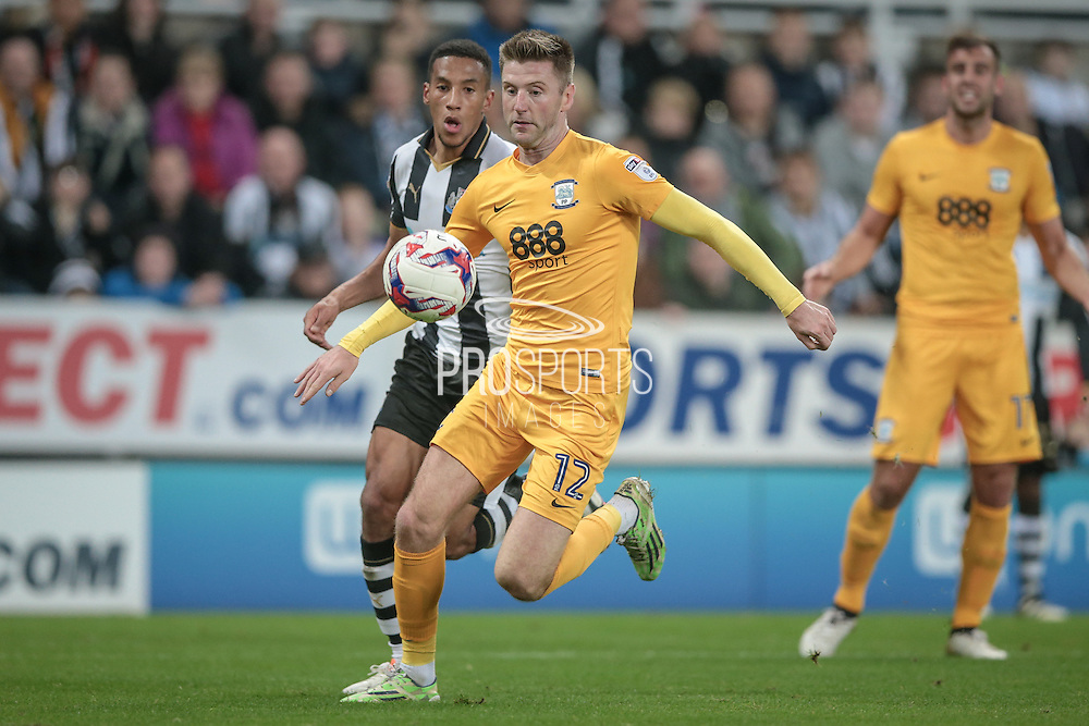 Paul Gallagher (Preston North End) during the EFL Cup 4th round match between Newcastle United and Preston North End at St. James's Park, Newcastle, England on 25 October 2016. Photo by Mark P Doherty.