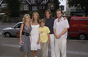Sharon Maughan with her children George, Jack and Alice ( Eve) with Rafe Spall. Gala Charity premiere of 'On A Clear Day' in aid of the NSPCC. The Screen on the Hill, Haverstock Hill, London. 31 August 2005. ONE TIME USE ONLY - DO NOT ARCHIVE  © Copyright Photograph by Dafydd Jones 66 Stockwell Park Rd. London SW9 0DA Tel 020 7733 0108 www.dafjones.com
