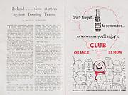 Irish Rugby Football Union, Ireland v Australia, Tour Match, Landsdowne Road, Dublin, Ireland, Saturday 18th January, 1958,.18.1.1958, 1.18.1958,..Referee- W J Evans, Welsh Rugby Union, ..Score- Ireland 9 - 6 Australia, ..Irish Team, ..P J Berkery, Wearing number 15 Irish jersey, Full back, Landsdowne Rugby Football Club, Dublin, Ireland, and, London Irish Rugby Football Club, Surrey, England, ..A J F O'Reilly, Wearing number 14 Irish jersey, Right Wing, Old Belvedere Rugby Football Club, Dublin, Ireland, ..N J Henderson, Wearing number 13 Irish jersey, Captain of the Irish team, Right centre, N.I.F.C, Rugby Football Club, Belfast, Northern Ireland, ..D Hewitt, Wearing number 12 Irish jersey, Left centre, Queens University Rugby Football Club, Belfast, Northern Ireland,. .A C Pedlow, Wearing number 11 Irish jersey, Left wing, C I Y M S Rugby Football Club, Belfast, Northern Ireland, ..J W Kyle, Wearing number 10 Irish jersey, Stand Off, N.I.F.C, Rugby Football Club, Belfast, Northern Ireland, ..A A Mulligan, Wearing number 9 Irish jersey, Scrum Half, Cambridge University Rugby Football Club, Cambridge, England, and, London Irish Rugby Football Club, Surrey, England, ..B G M Wood, Wearing number 1 Irish jersey, Forward, Garryowen Rugby Football Club, Limerick, Ireland, ..R Dawson, Wearing number 2 Irish jersey, Forward, Wanderers Rugby Football Club, Dublin, Ireland, ..P J O'Donoghue, Wearing  Number 3 Irish jersey, Forward, Bective Rangers Rugby Football Club, Dublin, Ireland,  ..W A Mulcahy, Wearing number 4 Irish jersey, Forward, University College Dublin Rugby Football Club, Dublin, Ireland,..J B Stevenson, Wearing number 5 Irish jersey, Forward, Instonians Rugby Football Club, Belfast, Northern Ireland,..J A Donaldson, Wearing number 6 Irish jersey, Forward, Collegians Rugby Football Club, Belfast, Northern Ireland,..J R Kavanagh, Wearing number 7 Irish jersey, Forward, Wanderers Rugby Football Club, Dublin, Ireland, ..N Murphy, Wearing number 8 Irish jersey, Fo