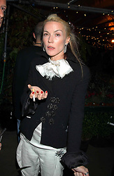 DAPHNE GUINNESS at an exclusive evening featuring the greatest talents in fashion today in aid of the African children who have been affected bt the AIDS epidemic held at the Chelsea Gardener, Sydney Street, London on 20th September 2004<br /><br />NON EXCLUSIVE - WORLD RIGHTS