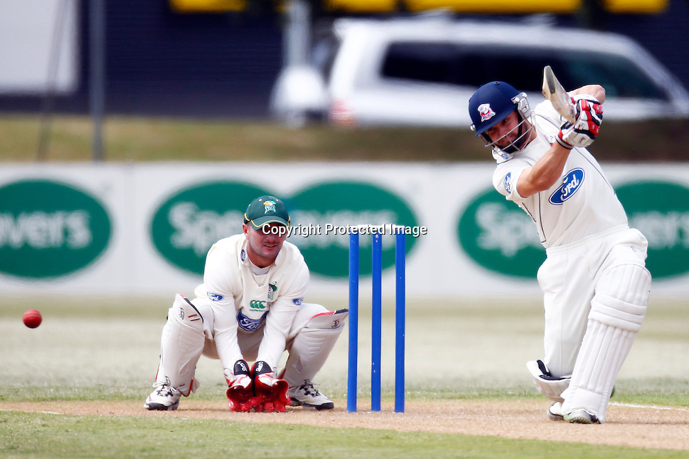 Auckland's Bradley Cachopa during the plunket shield cricket match between the Auckland Aces and the Central Stags. Domestic 4 day cricket. Colin Maiden Park, Auckland. 30 November 2011. Photo: William Booth/photosport.co.nz