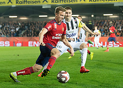 03.04.2019, TGW Arena, Pasching, AUT, OeFB Uniqa Cup, LASK vs SK Rapid Wien, Halbfinale, im Bild v.l. Philipp Schobesberger (SK Rapid Wien), Reinhold Ranftl (LASK) // during the halffinal match of the ÖFB Uniqa Cup between LASK and SK Rapid Wien at the TGW Arena in Pasching, Austria on 2019/04/03. EXPA Pictures © 2019, PhotoCredit: EXPA/ Reinhard Eisenbauer