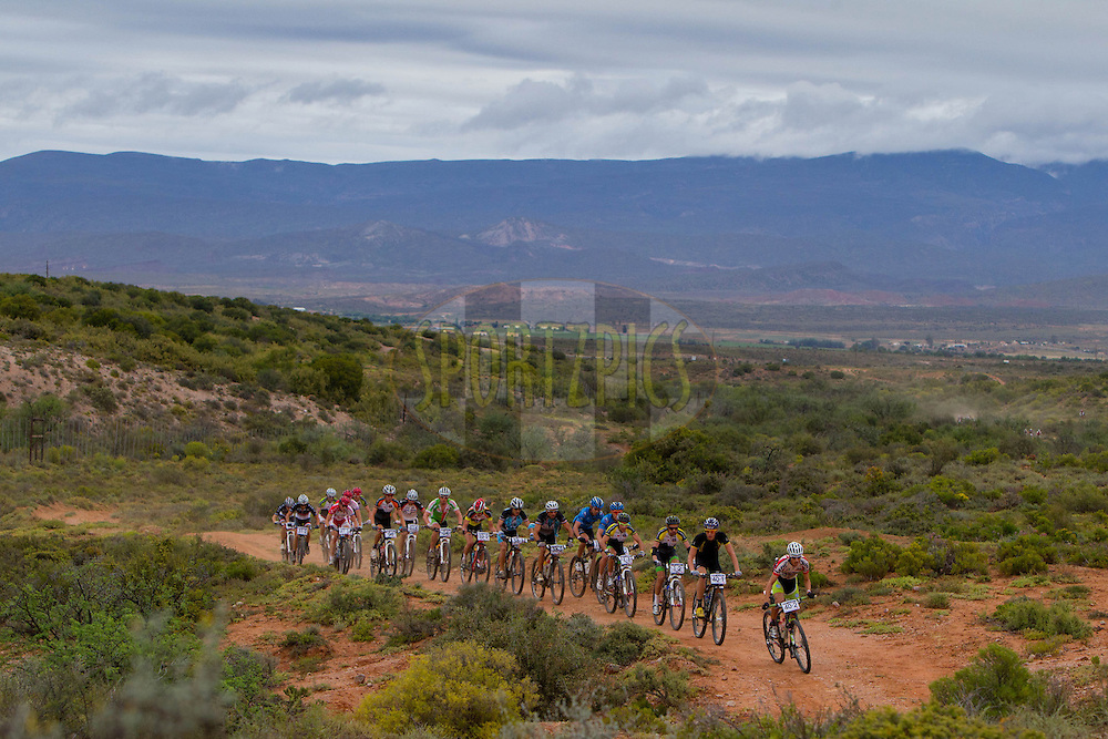 Riders make their way through a nature reserve during stage 2 of the Bridge Pioneer Trek from Calitzdorp to Prince Albert, 16 October 2012