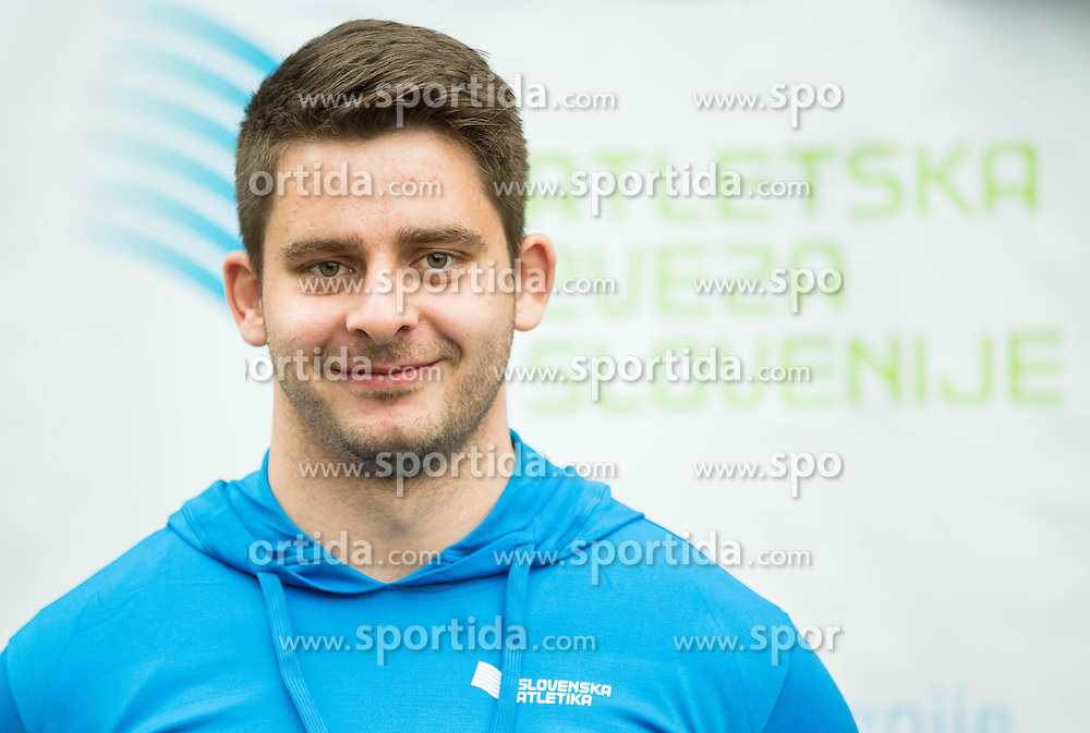Nejc Plesko during press conference when Slovenian athletes and their coaches sign contracts with Athletic federation of Slovenia for year 2016, on February 25, 2016 in AZS, Ljubljana, Slovenia. Photo by Vid Ponikvar / Sportida