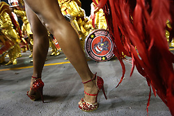 """A dancer of """"Dragoes da Real"""" performs during the first night of samba schools carnival parade at Anhembi Sambadrome in Sao Paulo, Brazil, on Feb. 14, 2015. EXPA Pictures © 2015, PhotoCredit: EXPA/ Photoshot/ [e]Rahel Patrasso<br /> <br /> *****ATTENTION - for AUT, SLO, CRO, SRB, BIH, MAZ only*****"""