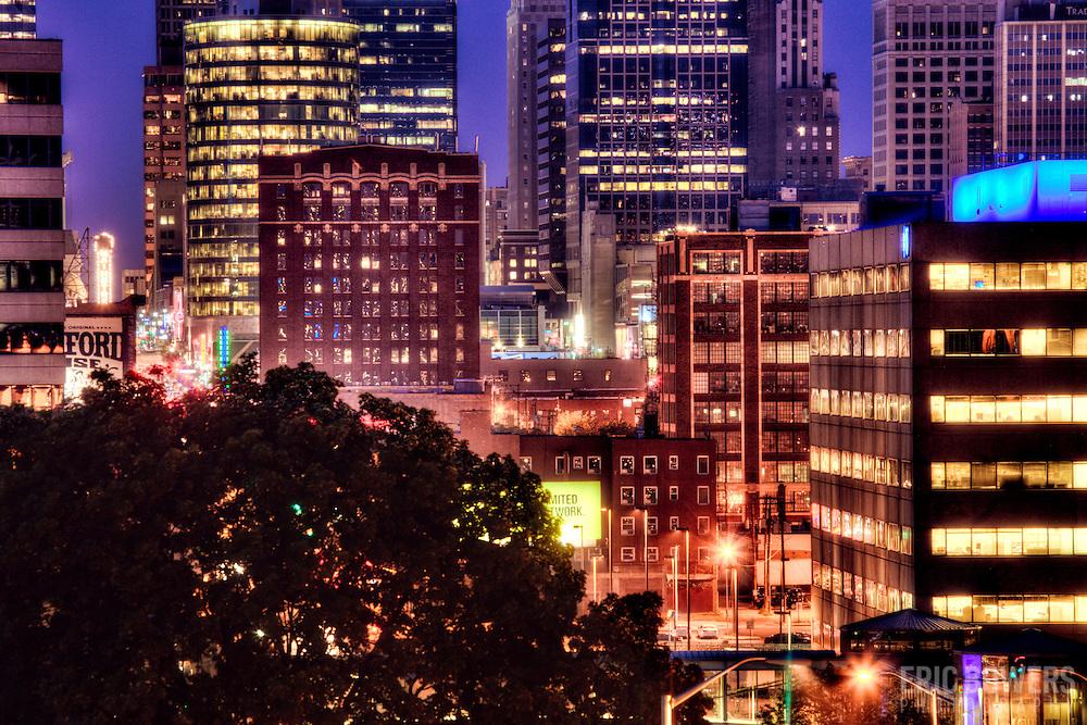 Downtown Kansas City MO skyline from near Liberty Memorial.