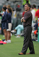 25 August 2007: Greg Ryan. The United States Women's National Team defeated the Women's National Team of Finland 4-0 at the Home Depot Center in Carson, California in an International Friendly soccer match.