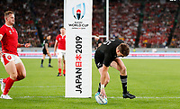 Rugby Union - 2019 Rugby World Cup - Bronze Final (Third Place Play-Off): Wales vs. France<br /> <br /> Beauden Barrett of New Zealand scores a try at Tokyo Stadium, Tokyo.<br /> <br /> COLORSPORT/LYNNE CAMERON