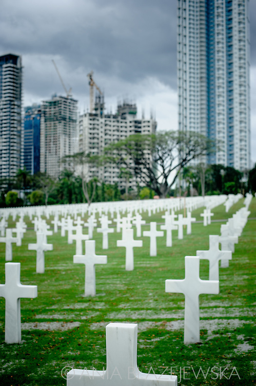 Philippines, Metro Manila. The Manila American Cemetery and Memorial located in Fort Bonifacio, Taguig City is the largest cemetary for U.S. personnel killed during World War II.