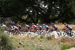 Kristabel Doebel-Hickok (USA), Ruth Winder (USA) and Tayler Wiles (USA) in the lead group at Amgen Tour of California Women's Race empowered with SRAM 2019 - Stage 2, a 74 km road race from Ontario to Mount Baldy, United States on May 17, 2019. Photo by Sean Robinson/velofocus.com