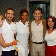 Tennisclinic Hilversum Open 2004, Brigitte Nijman, ?, Sophia Wezer, Rein Kolpa en Jeannine Geerts