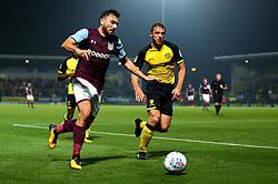 Robert Snodgrass of Aston Villa goes past Stephen Warnock of Burton Albion - Mandatory by-line: Robbie Stephenson/JMP - 26/09/2017 - FOOTBALL - Pirelli Stadium - Burton upon Trent, England - Burton Albion v Aston Villa - Sky Bet Championship