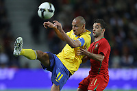 20090328: PORTO, PORTUGAL - Portugal vs Sweden: World Cup 2010 Qualifying Match. In picture: larsson and simao. PHOTO: Ricardo Estudante/CITYFILES